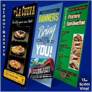 Outdoor Banner 13oz Scrim Vinyl W X Style Stand 24 Quot X 60 Quot