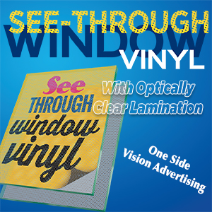 See through window vinly w lamination 18 x 24 for 18 x 24 vinyl window